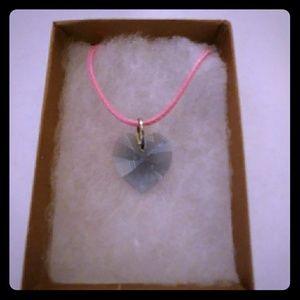 Jewelry - Alaska Blue Crystal Heart Necklace